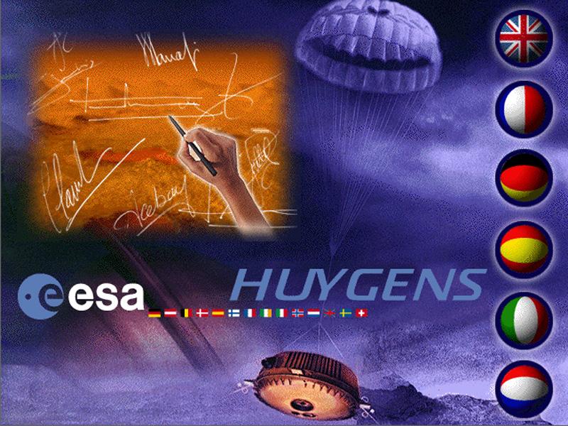 CASINI HUYGENS pochette du CDROM