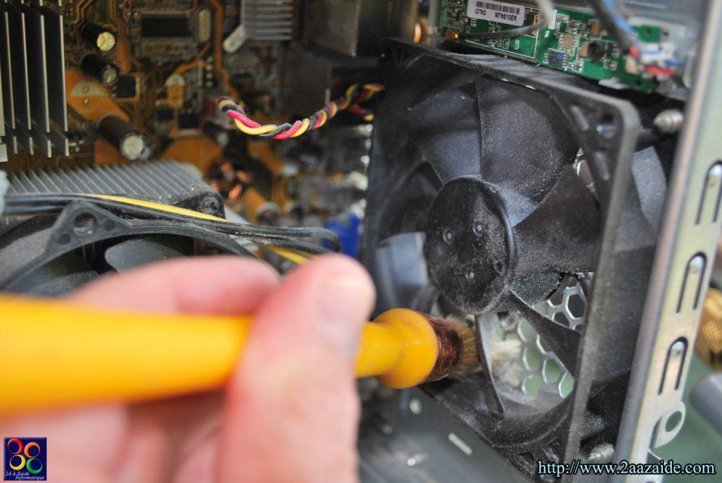 Nettoyage du ventilateur arrière