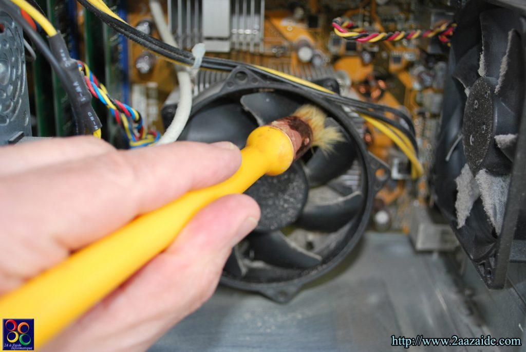 Nettoyage du ventilateur du processeur et du radiateur