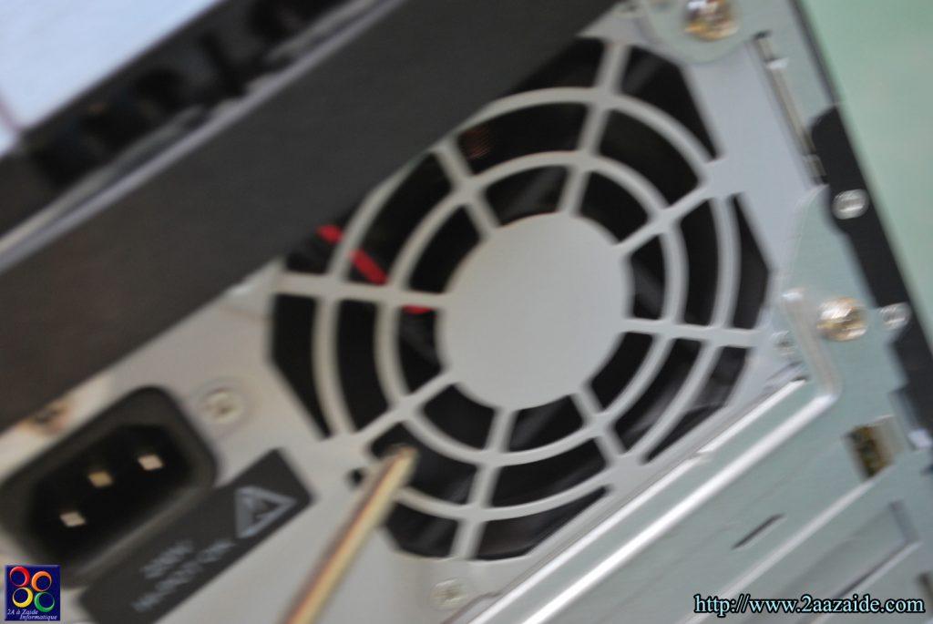 Nettoyage de l'alimentation du PC à l'air comprimée