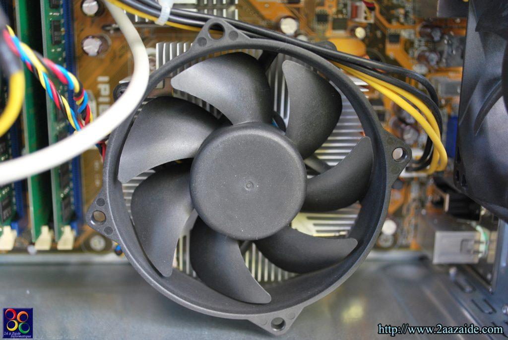 Ventilateur du processeur nettoyé