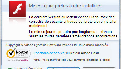 Attention aux fausses mises à jour Adobe FlashPlayer