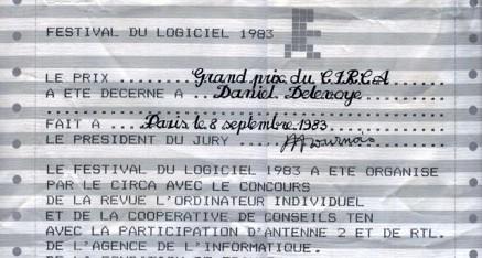 Le festival du logiciel Villeneuve-Lez-Avignon 1983